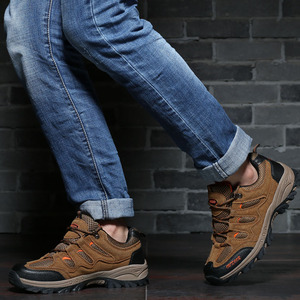 Image 5 - 2019 New Autumn Winter Non slip Sneakers for Men Shoes Outdoor Walking Hiking Shoes Mountain Hunting Boots Suede Male Footwear