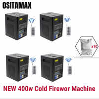4pcs+10 bags powder 400w Cold Firework Machine High Power Remote Control Cold Flame Sparklers