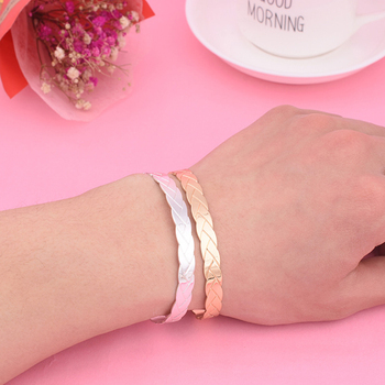 Simple pattern Bracelet scaly pattern open Bracelet 2019 new female lover's gift personality Jewelry Party Jewelry image