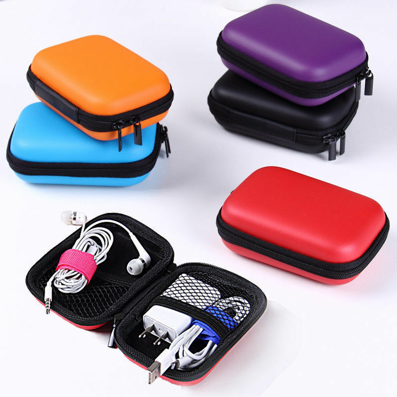 Fashion Mini Zipper Earphone Headphone SD Card Bag Candy Colors Storage Box Key Wallet Travel Accessories Packing Organizers