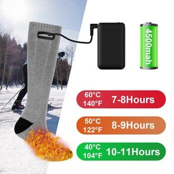 Heating Sock Three Modes Elastic Comfortable Water Resistant Electric Warm Sock Set Winter Warm Outdoor Socks Thermal Socks