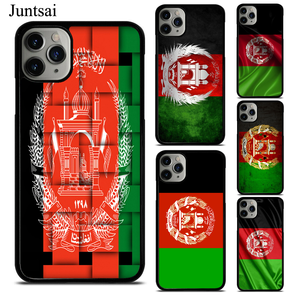 Juntsai Afghan <font><b>Afghanistan</b></font> Flag TPU Phone Case For iPhone X XS Max XR 7 8 SE 2020 6S Plus 5 11 Pro Max Cover Coque image