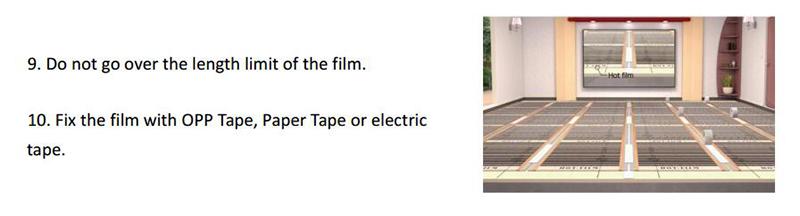 carbon heating film installation-2