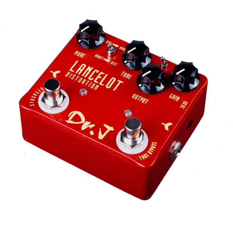 Dr. J LANCELOT Analog Screaming Distortion Electric Guitar Effect Pedal Efeito True Bypass D-59 With Gold Guitar Pedal Connector