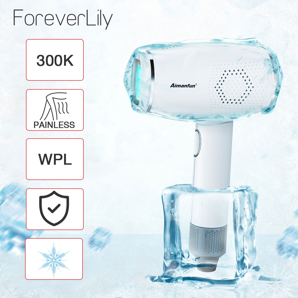 300000 Pulsed IPL Laser Hair Removal Device Permanent Hair Removal Ice Cold Laser Epilator Painless 3in1 Depilador Trimmer