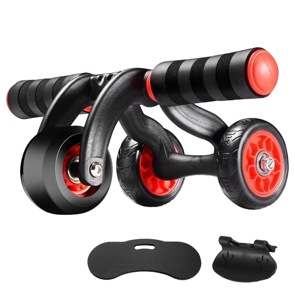 Ab Roller Wheel Automatic Rebound Abdominal Resistance 3/4 Wheels Muscle Trainer Roller Exercise Fitness Equipment|Ab Rollers| |  - title=