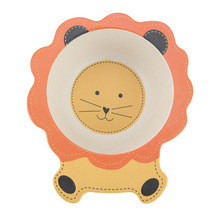 Baby Bowl Bamboo Plate Cartoon ChildrenS Food Natural Feeding Kids Dinnerware Fiber Dinner Tableware