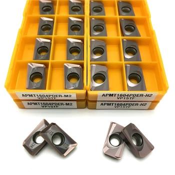 цена на APMT1604 M2 APMT1604 H2 carbide inserts turning tool milling insert CNC metal lathe tools APMT1604PDER milling cutting tool