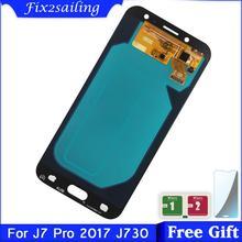 100% ทดสอบ SUPER AMOLED LCD สำหรับ Samsung Galaxy J730 J730F J7 Pro 2017จอแสดงผล LCD Touch Screen Digitizer Assembly ไม่มี dead พิกเซล