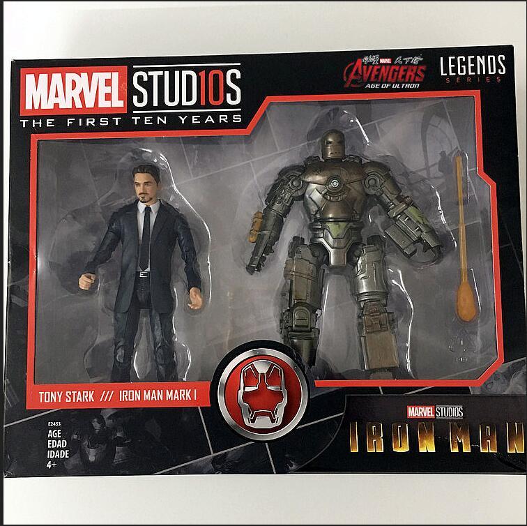 Marvel légendes 10TH anniversaire poupées mobiles Ironman Tony MK1 jouet modèle figurine T37