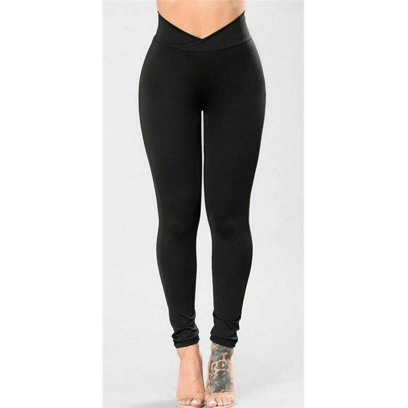 Women Leggings Bodybuilding Fitness Skinny Gym Sports Exercise Long Pants Black Basic Pants Ladies Casual Slim Trousers HOT