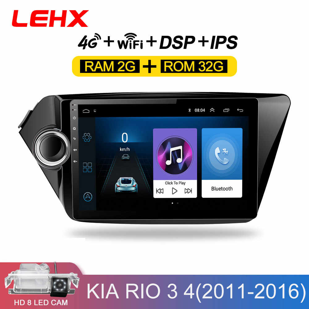 2din Android 8.1 auto radio multimedia speler gps navigatio voor Kia RIO 3 4 Rio 2010 2011 2012 2013 2014 2015 2016 2017 2018