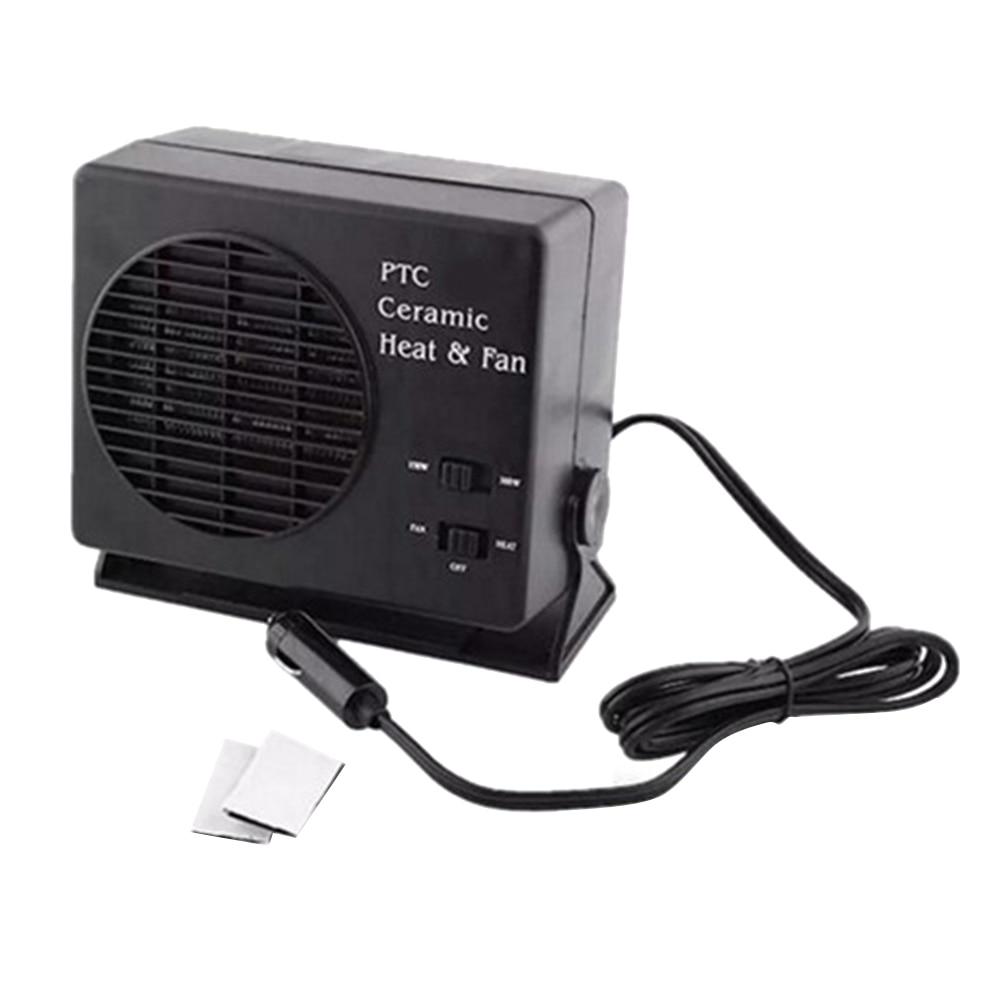 DC 200W 2in1 12V Car Portable Ceramic Heater Cooler Dryer Fan Defroster Demister