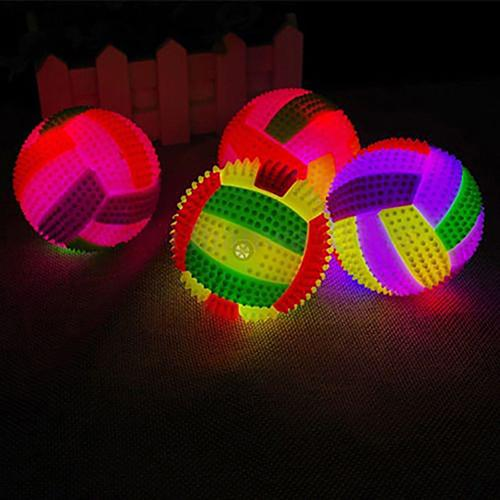 LED Fitness Musle Massage Balls Kids Sports Balls Volleyball Flashing Light Up Color Changing Bouncing Hedgehog Ball Gifts