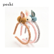 Childrens Hair Ball Rabbit Loop Girl Headpiece Cute Cartoon  Rope elastic hair bands Accessories
