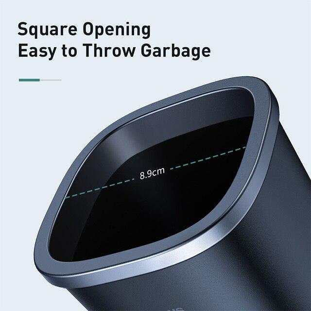 Baseus Car Trash Bin Auto Organizer Car Trash Can Storage Bag Rubbish Car Accessories Garbage Box