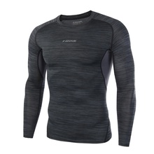 Dry Fit Compression Shirt Men Rashgard Fitness Long Sleeves Running Shirt Men Gym T Shirt Football Jersey Sportswear Sport Tight