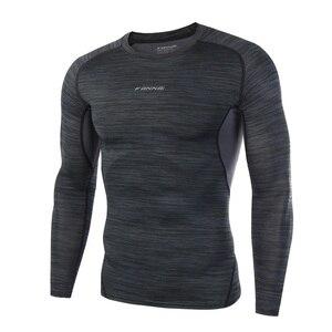 Dry Fit Compression Shirt Men Rashgard Fitness Long Sleeves Running Shirt Men Gym T Shirt Football Jersey Sportswear Sport Tight(China)