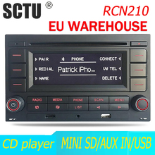 Radio de coche RCN210, reproductor de CD, USB, MP3, AUX, Bluetooth, para Volkswagen Golf MK4, Passat B5, Polo