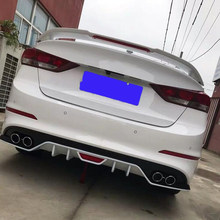 Für Zubehör Spoiler Hyundai Elantra 2015 16 17 18 ABS Material Primer Farbe Hinten Flügel Dach Spoiler Band Bremse Licht elantra