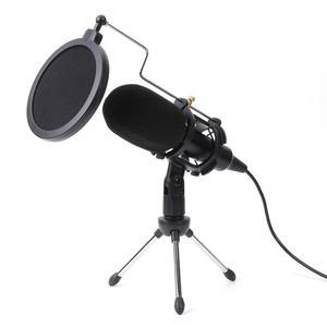 Image 1 - USB Microfono Wired Microfono A Condensatore da Studio Microfono con il Basamento Della Clip per il Supporto PC Dropshipping