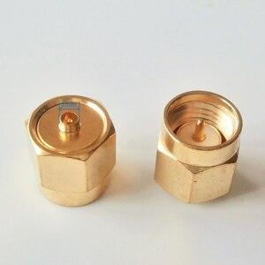 1x pces rf adaptador ipx macho para sma macho jack cabo conector soquete sma-ipx u. fl diâmetro 2mm em linha reta ouro latão coaxial