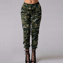 3XL 4XL 5XL Plus Size spodnie kamuflażowe biegaczy damskie spodnie dresowe drukuj w pasie dorywczo ponadgabarytowe spodnie moro kobiece zielone