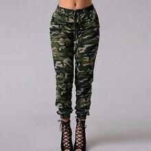 3XL 4XL 5XL حجم كبير السراويل التمويه ركض النساء Sweatpants طباعة مرونة الخصر عادية المتضخم كامو بنطلون الإناث الأخضر