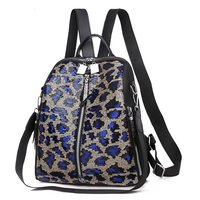 Girls Fashion Sequins Snake Backpack Women Nylon Large Capacity Bag Girl Book Bag Satchel School Bag For Teenagers Zaino Donna