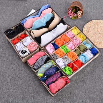 2020 New Multi-size Underwear Bra Organizer Storage Box Drawer Closet Organizers Boxes For Underwear Scarfs Socks Home Storage