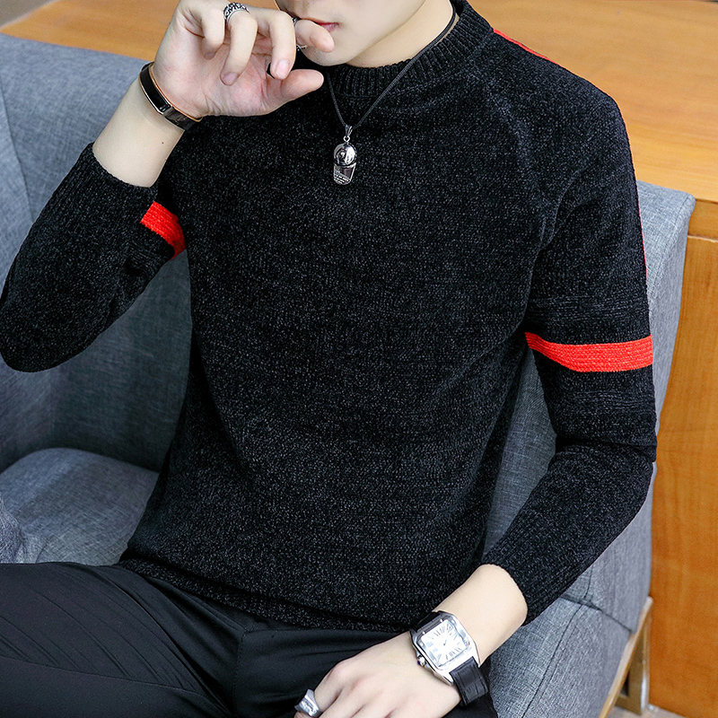 UYUK2019 Autumn And Winter Fashion Casual  Trend Slim High Quality Pullover Knit Solid Color Men's  Sweaters Clothes