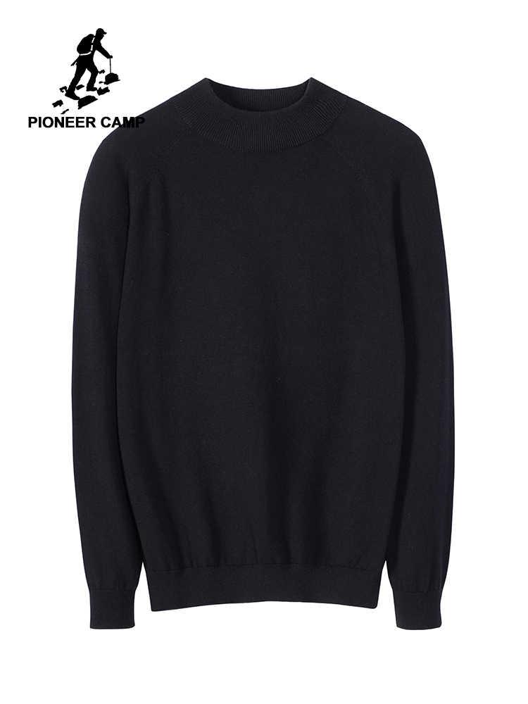 Pioneer camp 2019 sweter męskie zwykły wycięcie pod szyją jesień 100% bawełna mężczyzn 4 kolor AMS902282