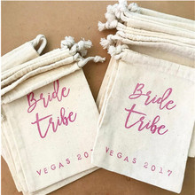 Bridal party Drawstring bag personalized bride to be favor bachelorette welcome gift hangovers Bags survival kit