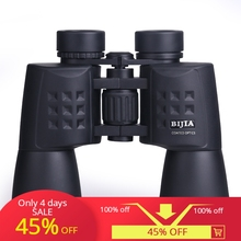 BIJIA 10x50 professional binoculars Zoom Jumelles  night vision telescope optical scope teleskop camping hunting jumells tools