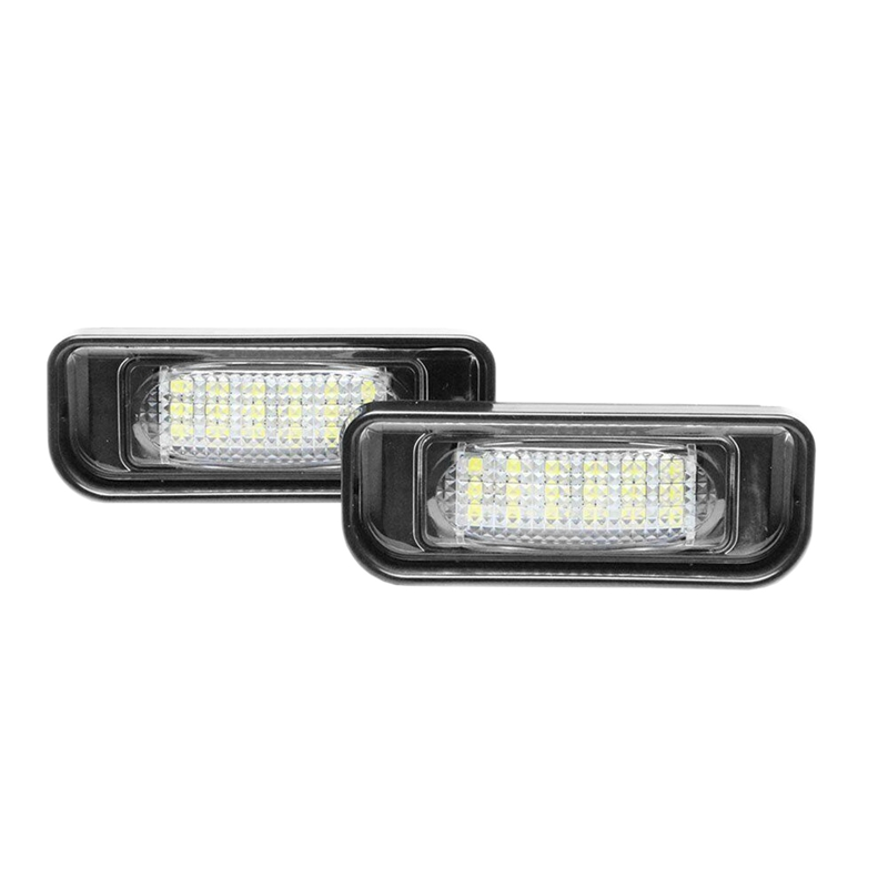 2Pcs White Led Number License Plate Light Lamp For Mercedes Benz W220 S Class 1999-2005