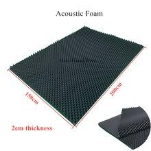 1pc 150x200cm estúdio espuma acústica som grande tamanho 59x79 polegada ovo à prova de som absorção tratamento painel 2cm espessura