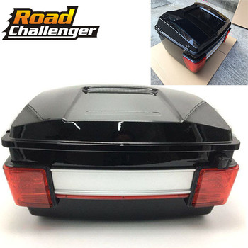 Motorcycle Rear Storage Box Tail Luggage Trunk Case Toolbox Fit For Harley Electra Glide