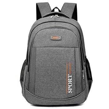 Teen School Bag for Boys Backpack Men Oxford Black Bookbag Big Leisure Middle High School Student Schoolbag College Bagpack