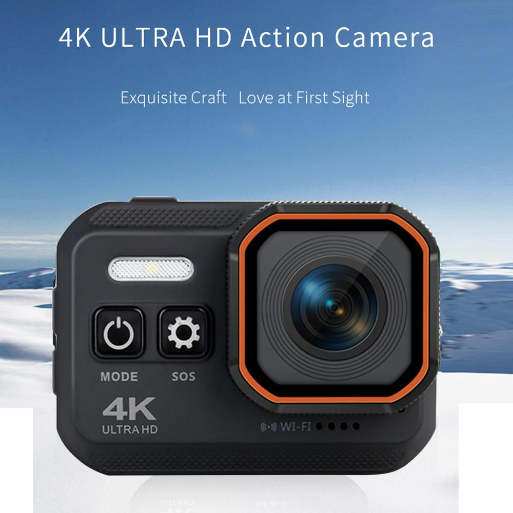 Cámara deportiva con pantalla LCD de 2,0 pulgadas, videocámara de acción Ultra HD 4K, 16MP, 24fps, WiFi, 170D, grabación de Vídeo impermeable subacuática