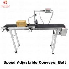 Cinta transportadora automática ajustable de velocidad para impresora de inyección de tinta máquina de grabado láser para codificación, LOGO 110 240V AC