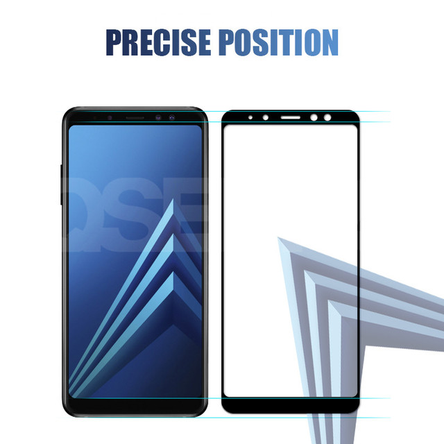 9D Protective Glass On the For Samsung Galaxy A5 A7 A9 J2 J8 2018 A6 A8 J4 J6 Plus 2018 Tempered Glass Screen Protector Film 5