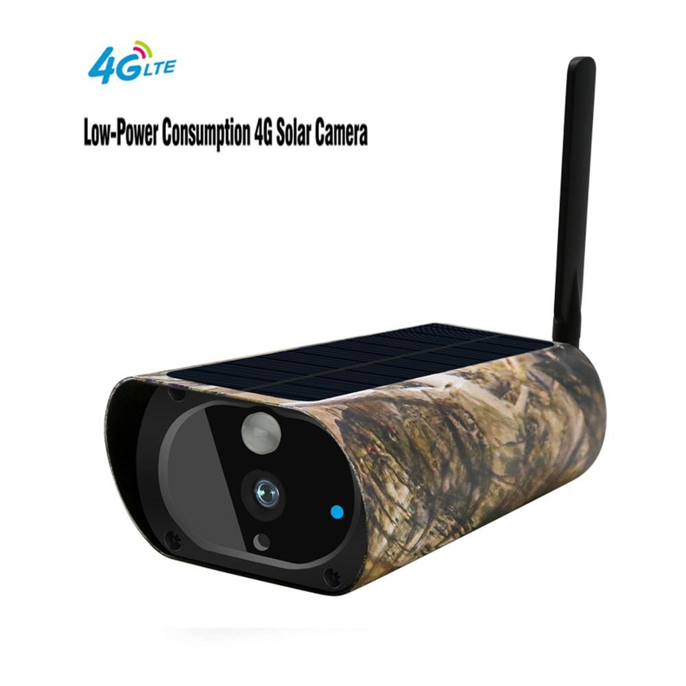 Waterproof Outdoor 4G Network Wireless Solar Battery Power Surveillance Security 1080P 2.0MP Video Camera SD Recording 4G SIM|Surveillance Cameras| |  - title=