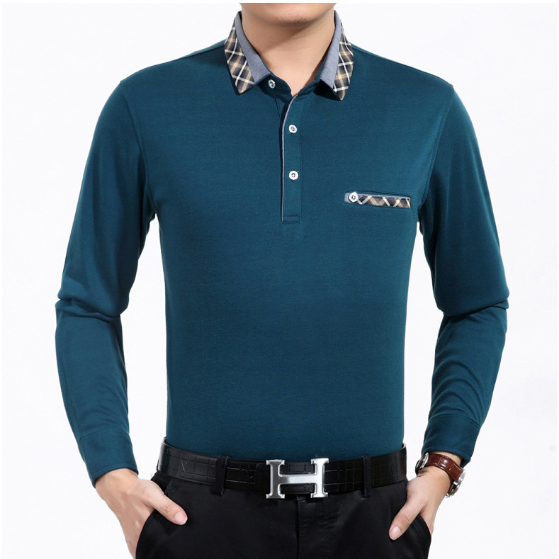 Spring and Summer New Long-sleeved Men's POLO Shirt Slim Lapel Large Size Quick-drying Cultural Shirt Men's Clothing 1
