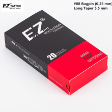EZ מהפכה מחסנית מחטים #08 (0.25 MM) מעוקל מגנום מחטי רוטרי קעקוע מכונת כידון 20 יח\קופסא