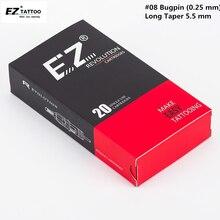 EZ Revolution Cartridge Needles #08 (0.25 mm) Curved Magnum Tattoo Needles for Cartridge Tattoo Machine Grips 20 pcs/Box