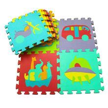 10 шт./компл. Детские наколенники для ползания напольный коврик EVA животных фрукты цифровой пазл подушечка игрушка