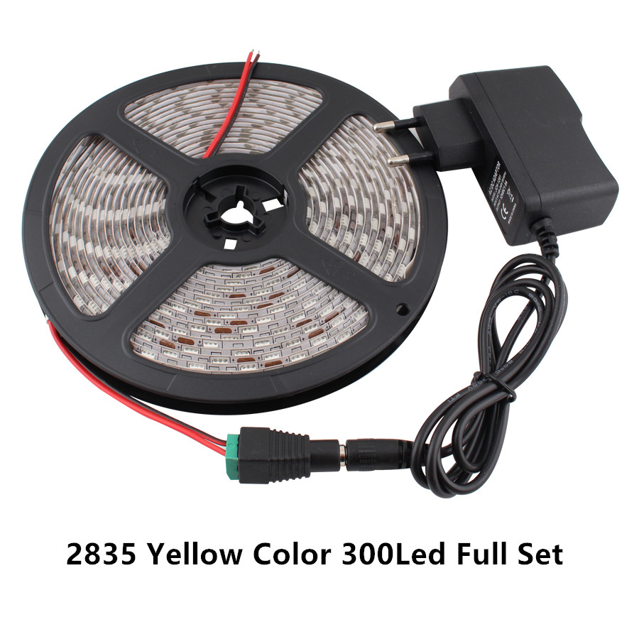 Neon RGB LED Strip Light 12V SMD 5050 2835 5M LEDStrip Waterproof 12V RGB Led Strip Neon Flexible Tape Power Adapter Full Set