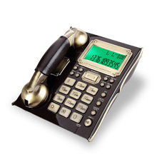 Teléfono con cable con identificador de llamadas, función de reloj despertador, marcación confidencial teléfono fijo antiguo europeo para el hogar