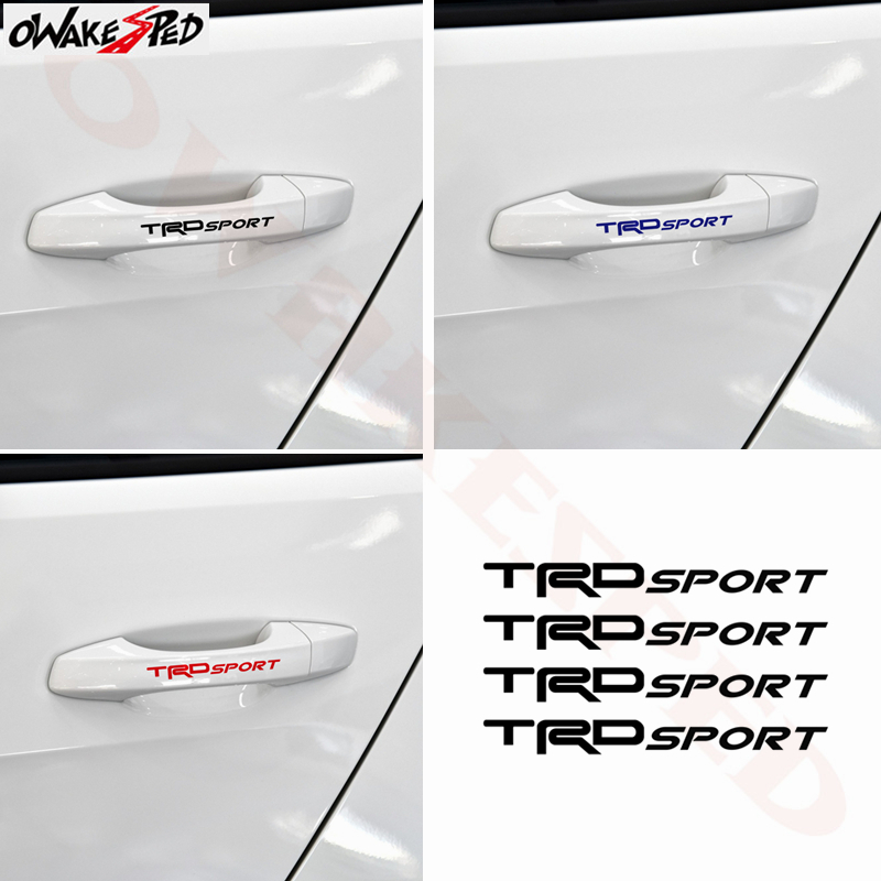 Image 3 - For Toyota TRD Sport 4PCS Car Temp Brake Caliper Stickers Rims Alloy Wheels Curved Vinyl Decals Auto Doorknob Decor Sticker-in Car Stickers from Automobiles & Motorcycles