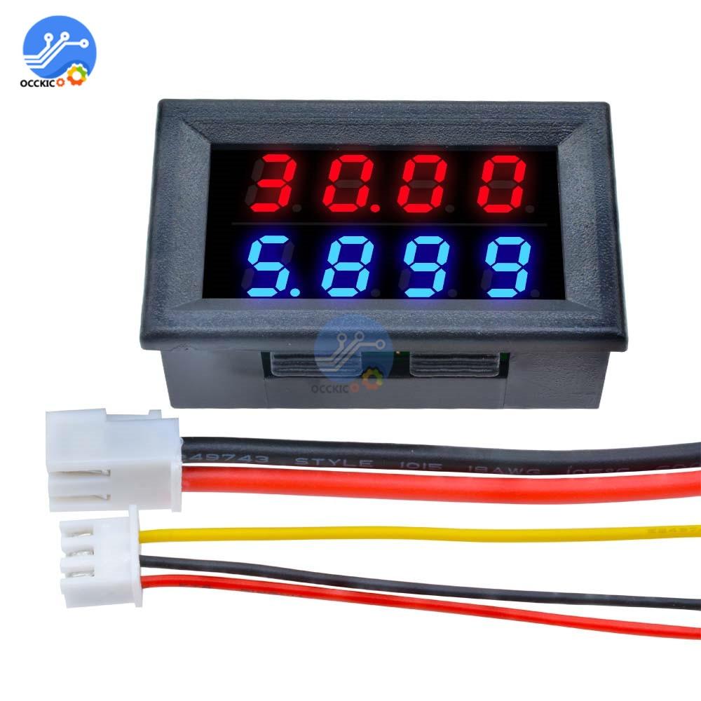 Mini Digital Voltmeter Ammeter High Precision 0~100V 10A Measure Instrument Tool 4bit Accurate Voltage Current Meter Led Display